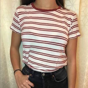 White and red stripped T-shirt